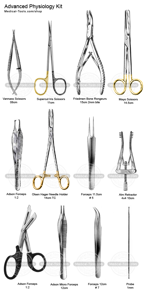 advance physiology kit surgical instruments medical tools shop
