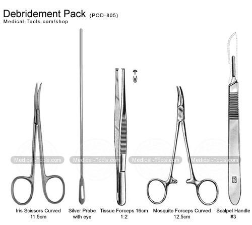 debridement pack podiatry instruments medical tools shop
