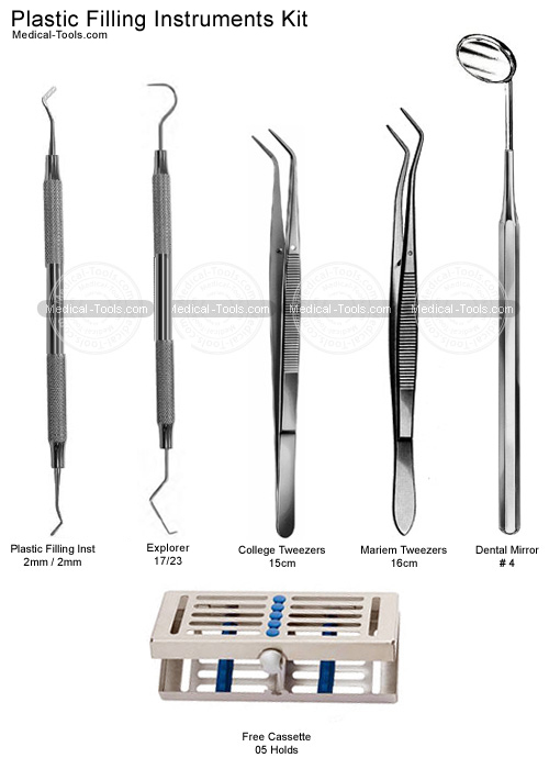 Dental Plastic Filling Instruments Kit Dental Instruments