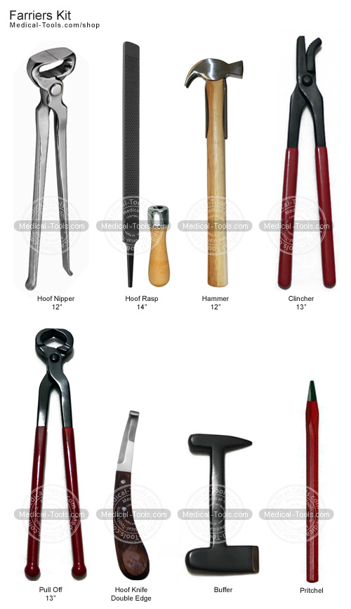 farriers kit veterinary instruments medical tools shop