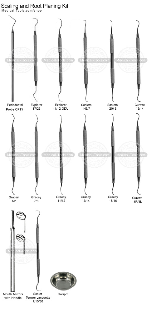 scaling and root planing kit dental instruments medical tools shop