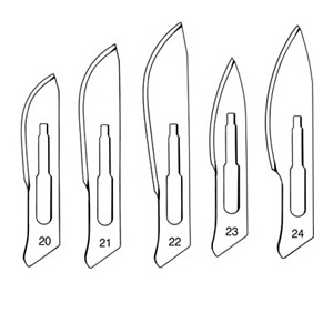Scalpal Blades for Handle No. 4