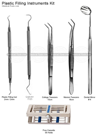 Dental Plastic Filling Instruments Kit
