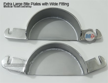 Extra Large Bite Plates with Wide Fitting