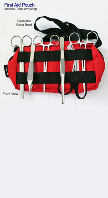 First Aid Pouch, Emergency Travel Kit